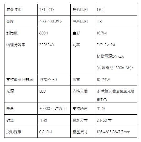 YG300 手機大小 投影機7