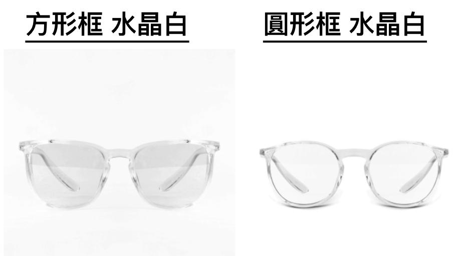 Stoggles 時尚護眼鏡_方形框 水晶白