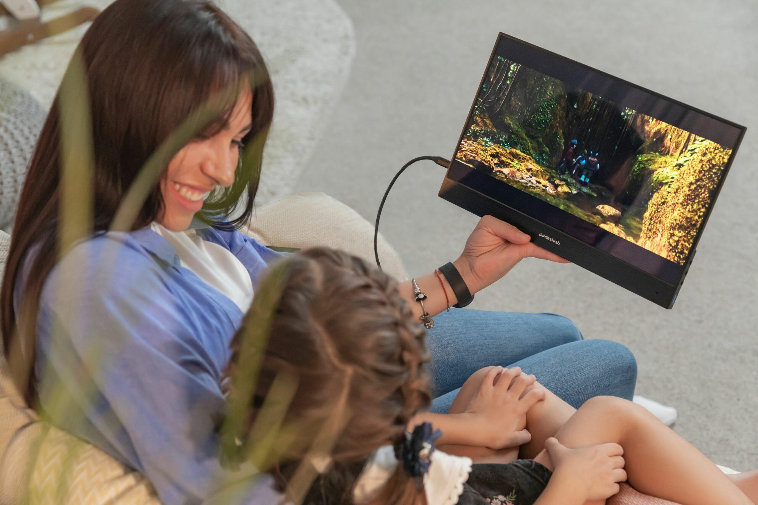 Desklab 4K 超輕便攜式觸摸屏顯示器