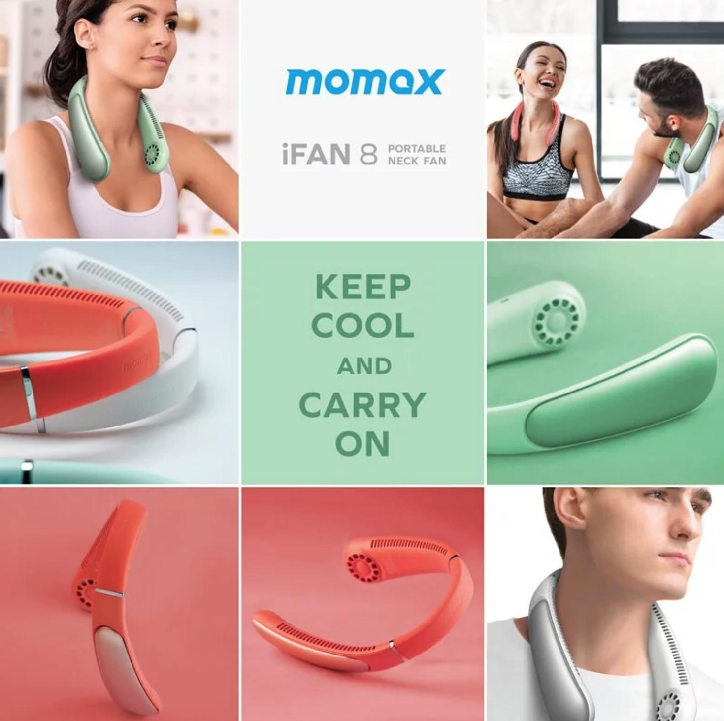 Momax iFan 8 便攜式掛頸風扇12